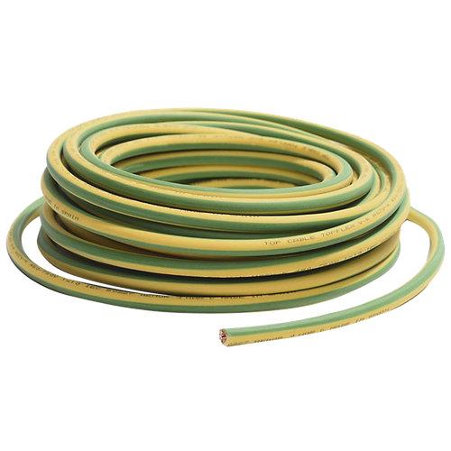 Cable eléctrico corte h07z1-k 25mm² verde/amar mín30-máx150m
