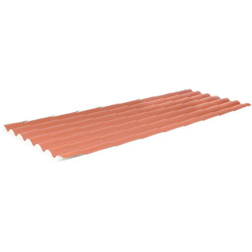 Placa aislada imitacion teja rojo/blanco 2100x1000 mm