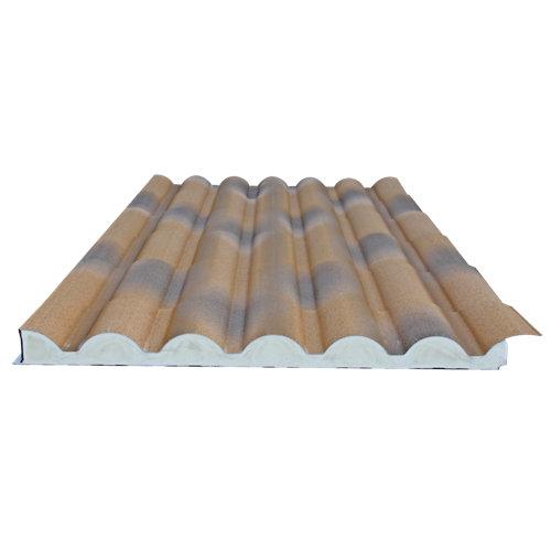 Placa aislada imitacion teja envejecida/madera 2100x1000 mm