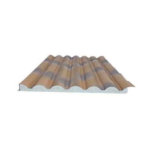Placa aislada imitacion teja envejecida/madera 2450x1000 mm