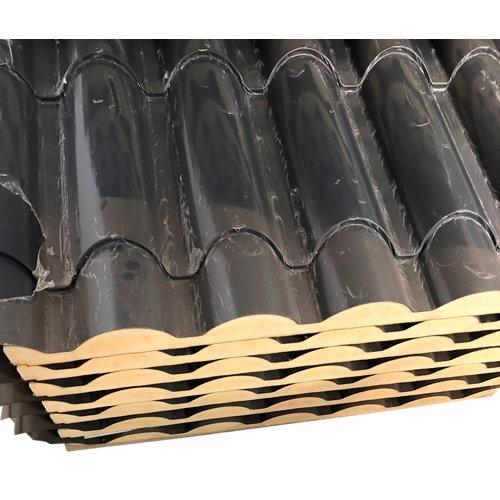 Placa aislada imitacion teja pizarra/madera 2100x1000 mm