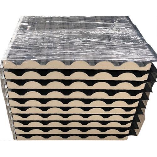 Placa aislada imitacion teja pizarra/madera 2450x1000 mm