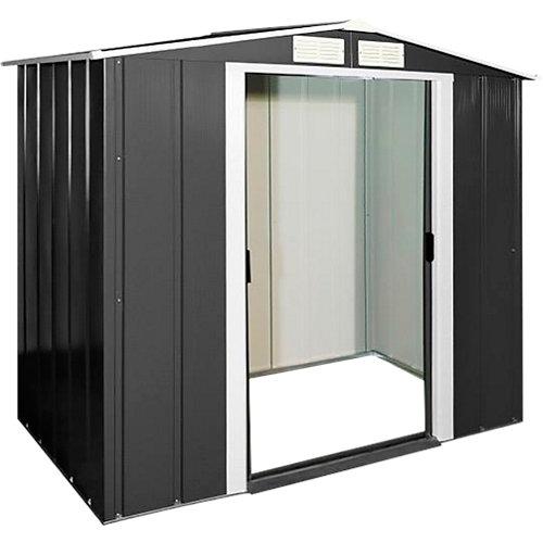 Caseta de metal eco shed 6x4 de 202x180.5x122 cm y 2.47 m2