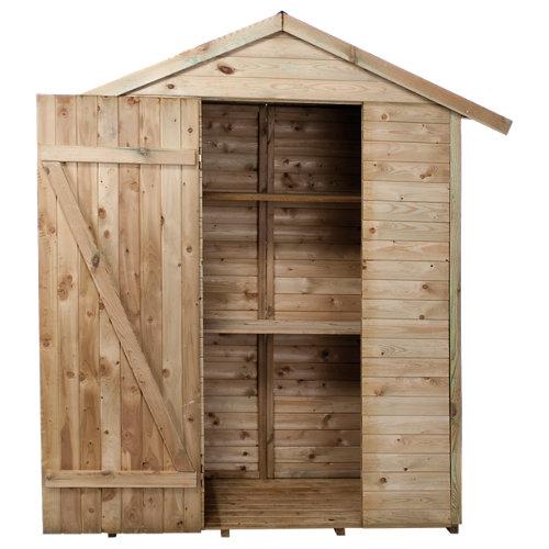 Armario de exterior de madera leo con estanterías 193x220x70 cm