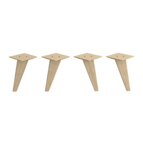 1 lote de 4 patas de madera para mueble hasta 21.6 cm