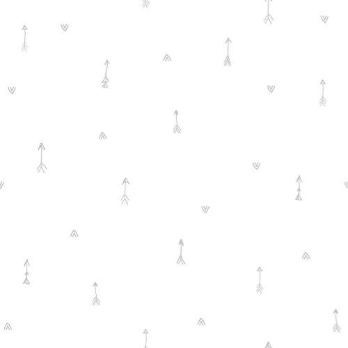 Papel pintado autoadhesivo flechas naif gris 3,31 m²