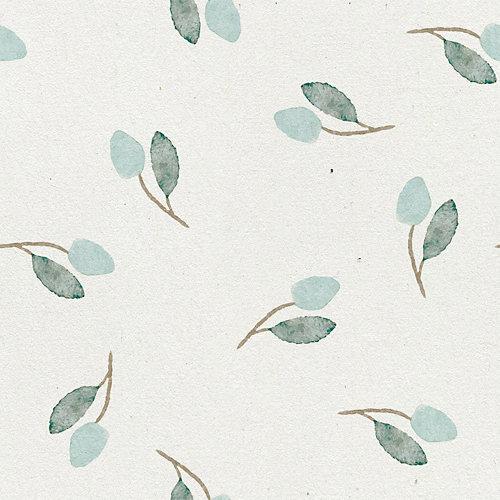 Papel pintado autoadhesivo floral soft leaves 3,31 m²