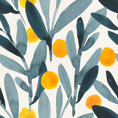 Papel pintado autoadhesivo Sweet Home amarillo 0,65x2,55 m