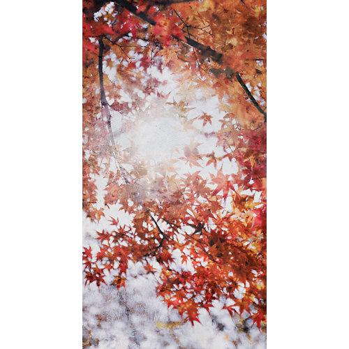 Mural decorativo autoadhesivo otoño marrón 132x250 cm