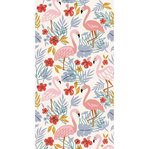 Mural decorativo autoadhesivo flamingo floral 132x250 cm