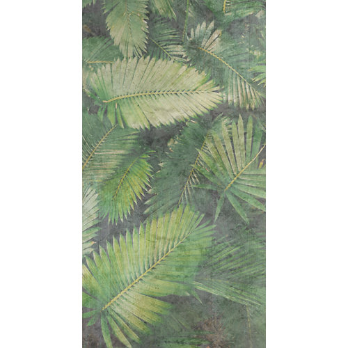 Mural decorativo autoadhesivo palms verde 132x250 cm