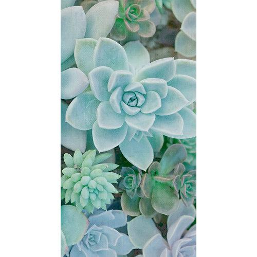 Mural decorativo autoadhesivo succulent turquesa 132x250 cm