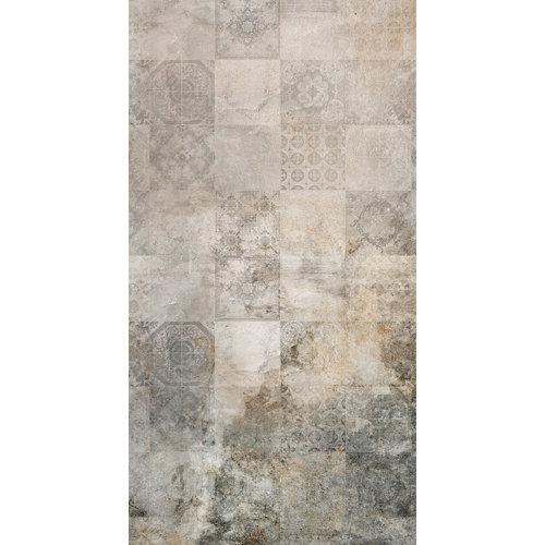 Mural decorativo autoadhesivo old tiles beige 132x250 cm