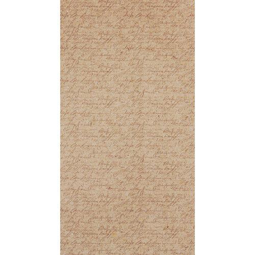 Mural decorativo autoadhesivo manuscrito beige 132x250 cm
