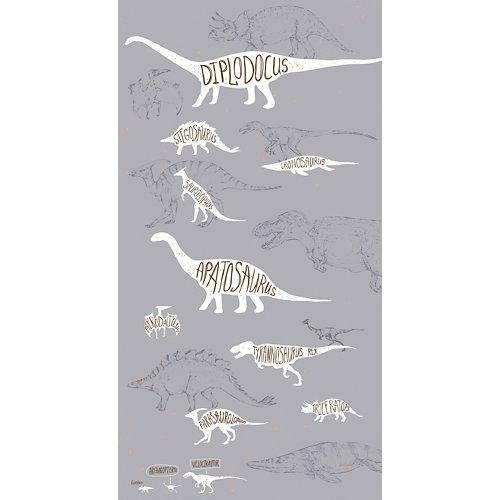 Mural decorativo autoadhesivo dinos gris 132x250 cm