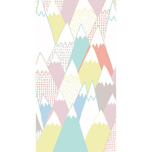 Mural decorativo autoadhesivo soft mountain 132x250 cm
