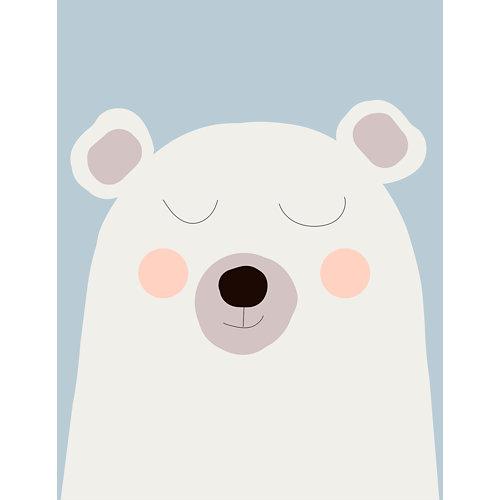 Mural decorativo autoadhesivo oso polar blanco 193x250 cm