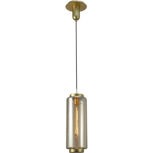 Lámpara de techo jarras marrón 1 luz