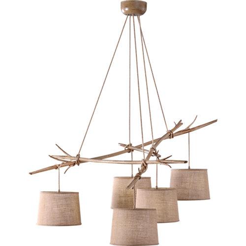 Lámpara de techo mantra sabina 5 luces beige