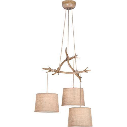 Lámpara de techo mantra sabina 3 luces beige