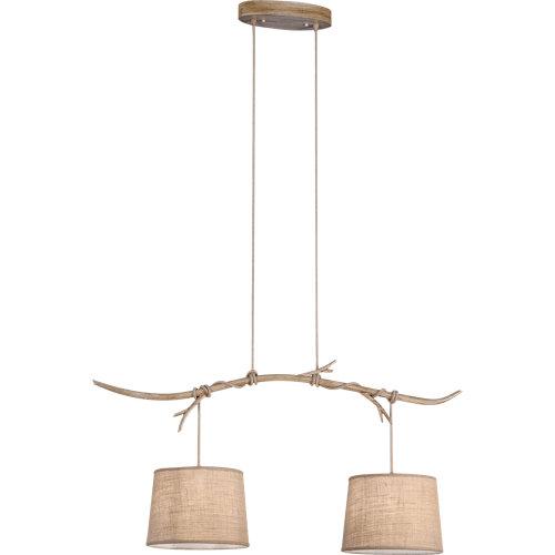 Lámpara de techo mantra sabina 2 luces beige