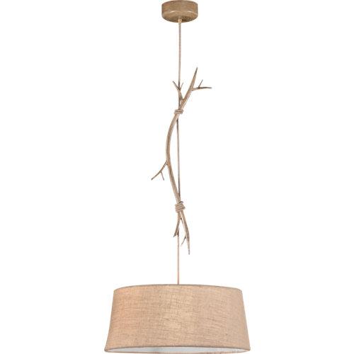 Lámpara de techo mantra sabina 1 luz ø 65 cm beige