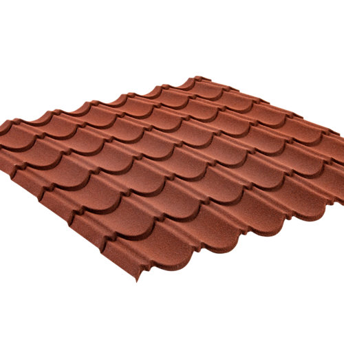 Placa de metal granulado rojo 920x1000 mm
