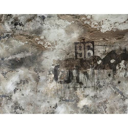 Mural decorativo autoadhesivo grunge marrón 321x250 cm