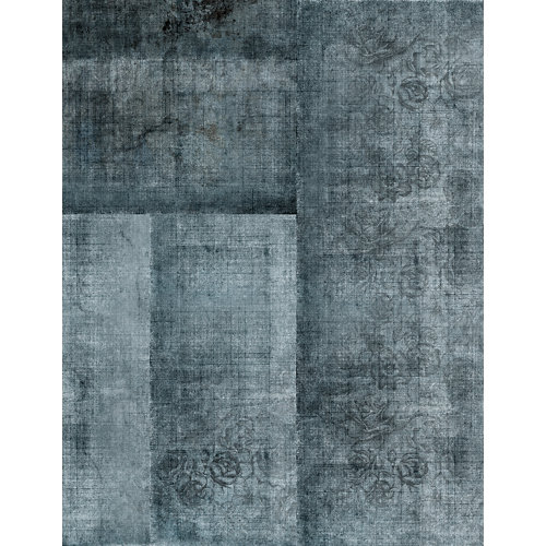 Mural decorativo autoadhesivo blue patchwork 193x250 cm