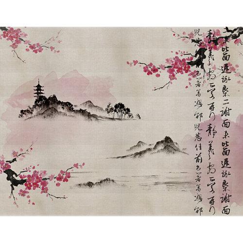 Mural decorativo autoadhesivo sakura 321x250 cm