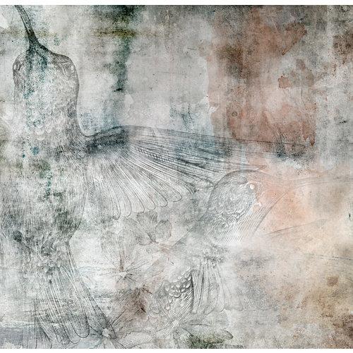 Mural decorativo autoadhesivo colibrí 257x250 cm