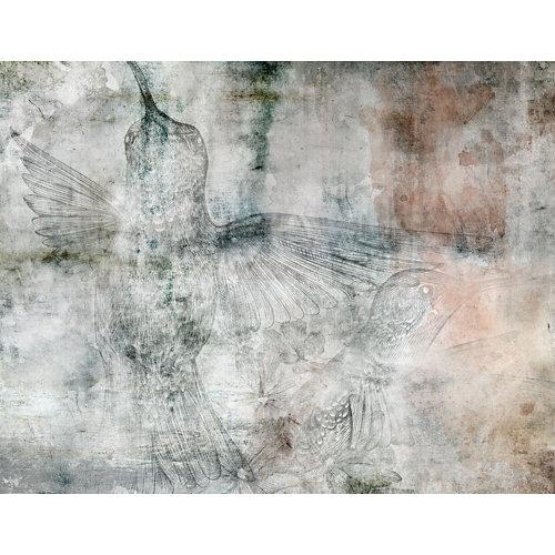 Mural decorativo autoadhesivo colibrí 321x250 cm