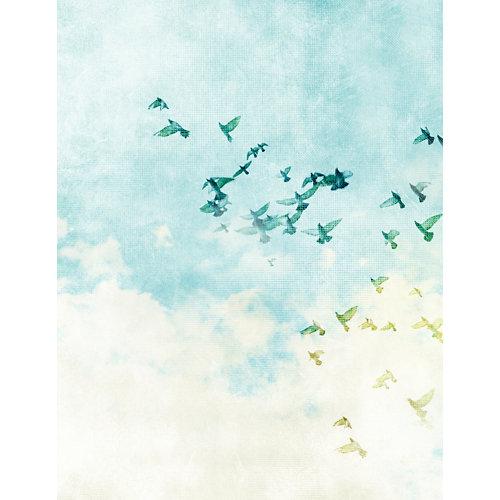 Mural decorativo autoadhesivo flying birds 193x250 cm