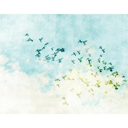 Mural decorativo autoadhesivo flying birds 321x250 cm