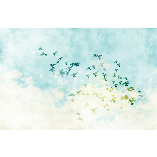 Mural decorativo autoadhesivo flying birds 385x250 cm