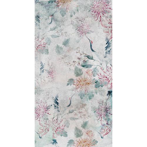 Mural decorativo autoadhesivo garzas japonesas 257x250 cm
