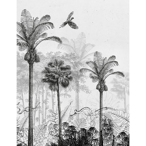 Mural autoadhesivo jungla beige 65x250 cm