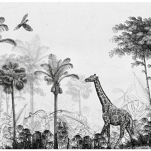 Mural autoadhesivo jungla beige 257x250 cm