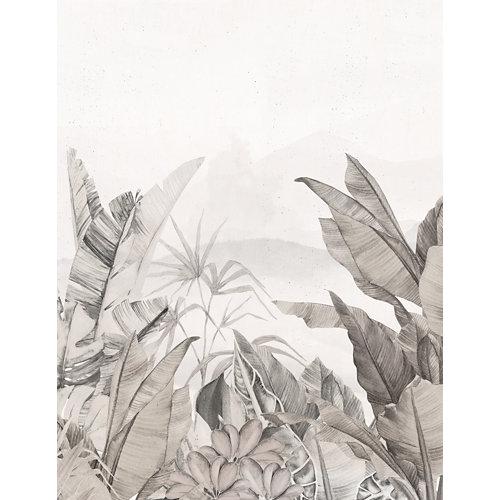 Mural autoadhesivo jungla colonial beige 193x250 cm