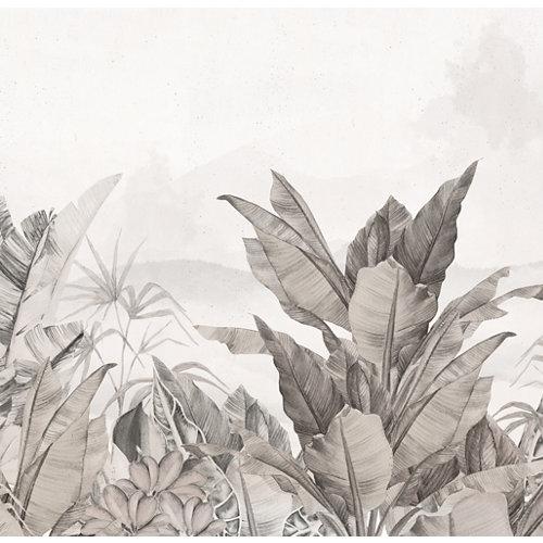 Mural autoadhesivo jungla colonial beige 257x250 cm