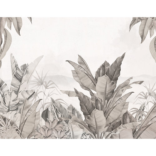Mural autoadhesivo jungla colonial beige 321x250 cm
