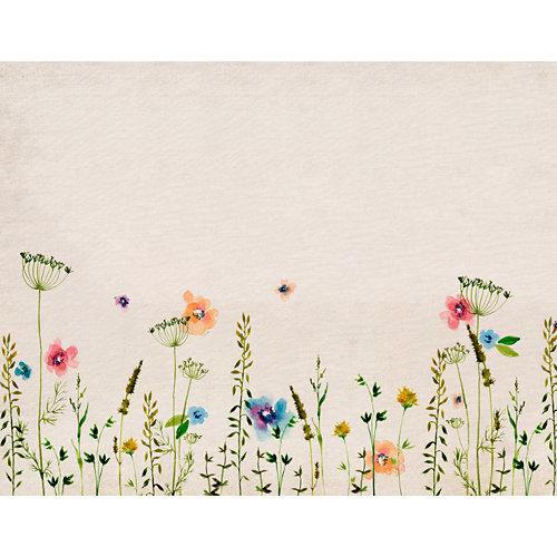 Mural autoadhesivo primavera beige 65x250 cm