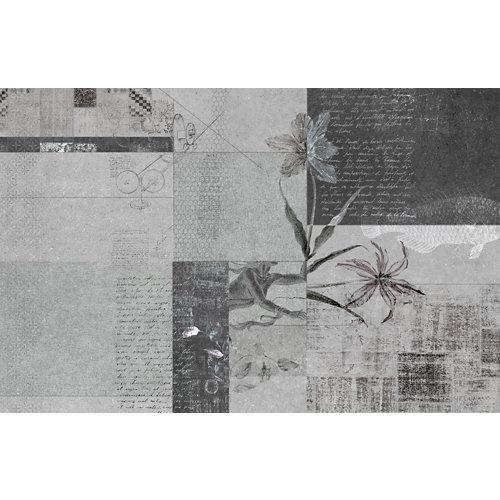 Mural autoadhesivo textil grey negro 65x250 cm