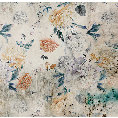Mural autoadhesivo floral blossom beige 257x250 cm