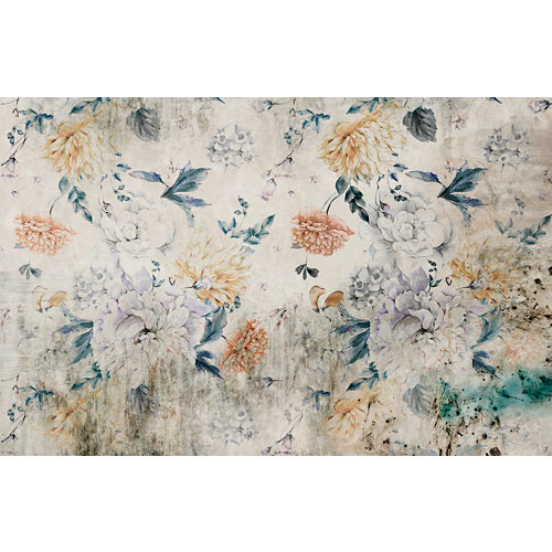 Mural autoadhesivo floral blossom beige 65x250 cm