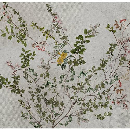 Mural autoadhesivo botánico verde 257x250 cm