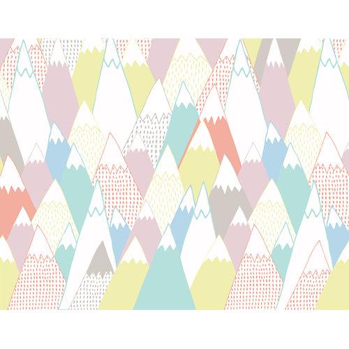 Mural autoadhesivo soft mountain multicolor 65x250 cm