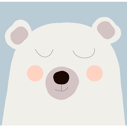 Mural autoadhesivo oso polar blanco 257x250 cm