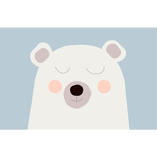 Mural autoadhesivo oso polar blanco 65x250 cm