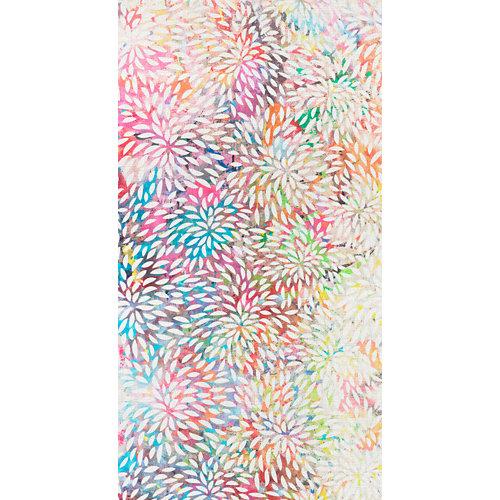 Mural autoadhesivo flores multicolor 132x250 cm
